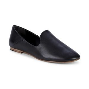 Vince Marley Black Italian Leather Loafers